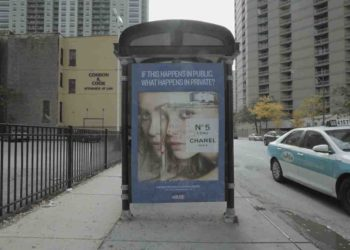 Chicago Creatives 'Deface' Outdoor Ads to Bring Attention to Domestic Violence