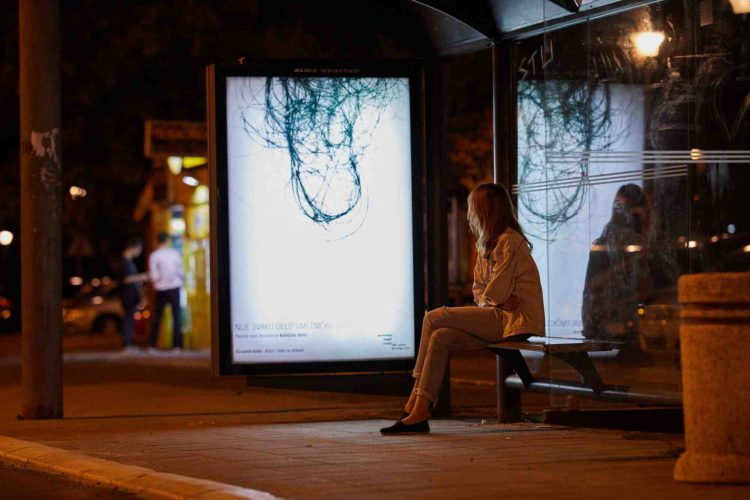 """Chilling """"artworks"""" on the streets of Belgrade warn of a serious problem 6"""