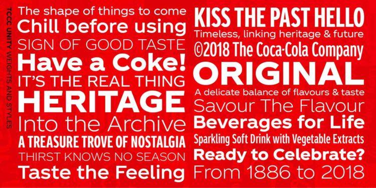 Coca-Cola predstavila vlastito pismo 2