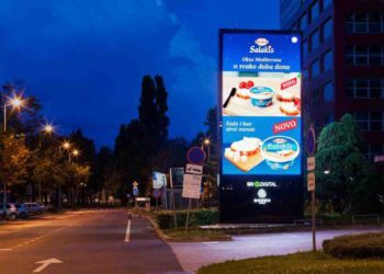 Dukat and agency Švicarska create a digital ad that changes depending on the time of the day