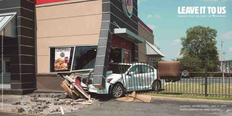 Burger King's latest print campaign shows all the dangers of drive-through 1