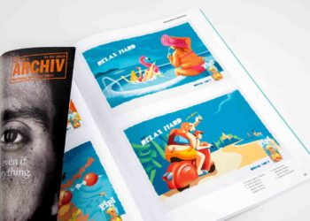 Imago Ogilvy's Relax Hard featured on 2 pages of Lürzer's Archive 1