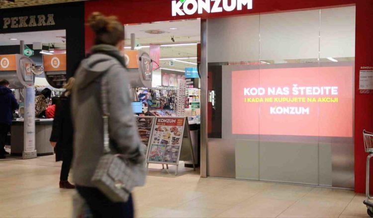 Any window can become a digital billboard at Konzum
