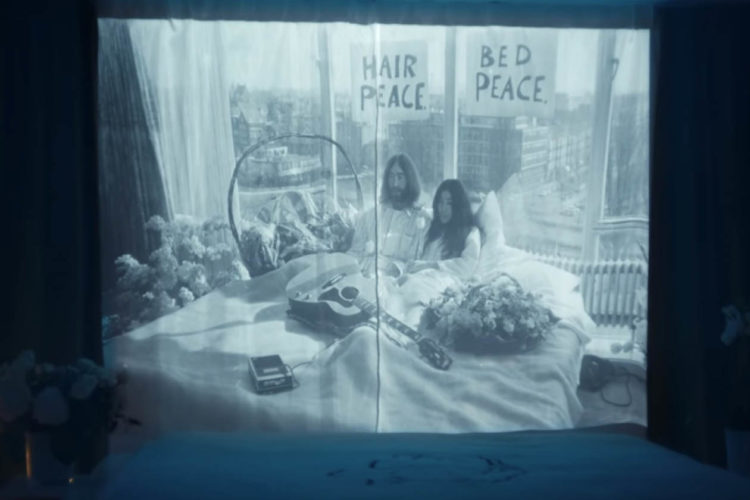 Hilton keeps John and Yoko's dream of peace alive in 'Room 702' campaign 1